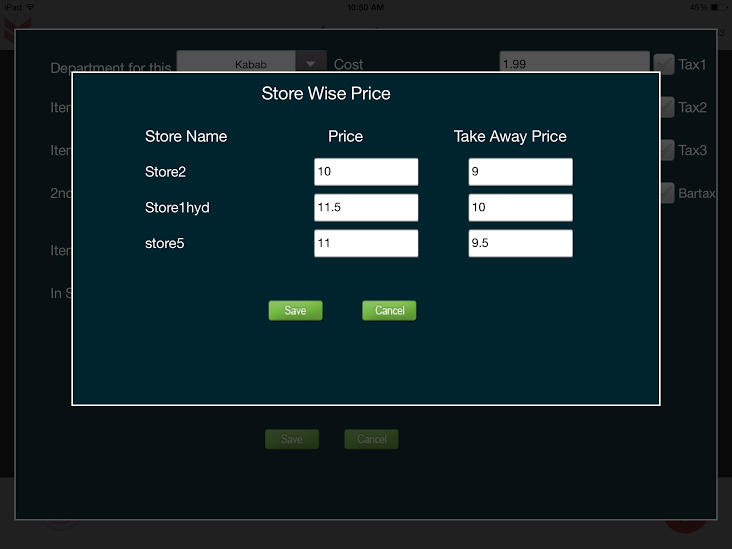 storewise pricing